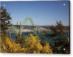 Or, Newport, Yaquina Bay Bridge Acrylic Print by Jamie and Judy Wild