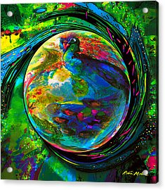 Orb Of Pavone Acrylic Print by Robin Moline