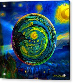 Orbiting A Starry Night  Acrylic Print