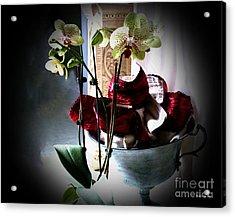 Orchids Acrylic Print by Jinx Farmer