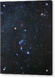 Orion Constellation Acrylic Print by Eckhard Slawik/science Photo Library