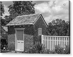 Acrylic Print featuring the photograph Out Building At The Hermitage by Robert Hebert