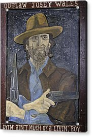 Acrylic Print featuring the painting Outlaw Josey Wales by Eric Cunningham