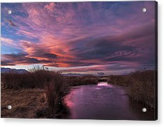 Owens River Sunset Acrylic Print
