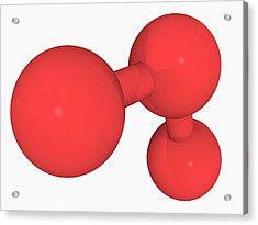 Ozone Oxygen Molecule Acrylic Print by Laguna Design/science Photo Library