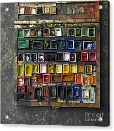 Paint Box Acrylic Print by Bernard Jaubert