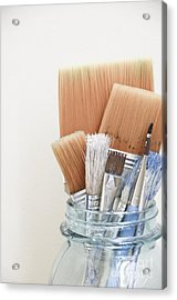 Paint Brushes In Jar Acrylic Print