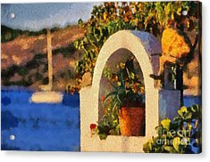 Agia Marina Town  Acrylic Print