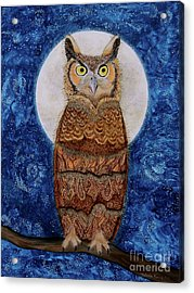 Paisley Moon Acrylic Print