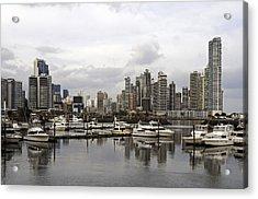 Panama City Skyline. Panama. Acrylic Print by Fernando Barozza