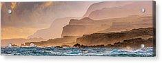 Panoramic Of Molokais North Shore Sea Acrylic Print