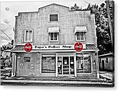 Papa's Poboy Shop Acrylic Print by Scott Pellegrin