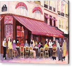 Paris Cafe Bar Acrylic Print