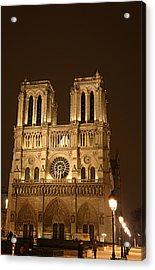 Paris France - Notre Dame De Paris - 01131 Acrylic Print by DC Photographer