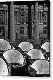 Paris Reflecting Balls In The Palais Royal Gardens Acrylic Print