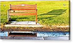 Park Bench Acrylic Print by Tom Gowanlock