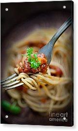 Pasta With Tomato Sauce Acrylic Print