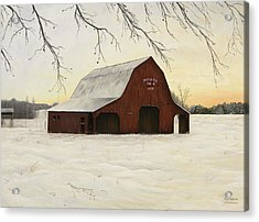 Patterson Barn Acrylic Print by Mary Ann King
