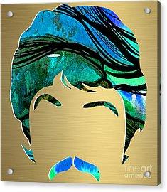 Paul Mccartney Gold Series Acrylic Print by Marvin Blaine