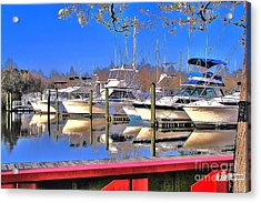 Acrylic Print featuring the photograph Peaceful Marina by Ed Roberts