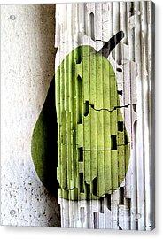 Pear Acrylic Print by Elena Nosyreva