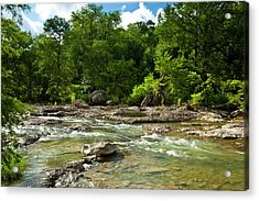 Pedenales River On A Fine Summer Morning Acrylic Print by Mark Weaver
