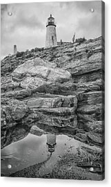 Pemaquid Lighthouse In Bristol Maine Acrylic Print by Jeff Folger