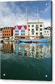 Peninsula Tinganes With Old Town Acrylic Print