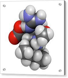 Peramivir Influenza Drug Molecule Acrylic Print by Molekuul