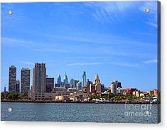 Philadelphia Acrylic Print by Olivier Le Queinec