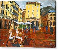 Piazza De Como Acrylic Print by Gregory Allen Page