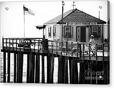 Pier View Acrylic Print by John Rizzuto
