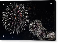 Acrylic Print featuring the photograph Pink Fireworks by Lilliana Mendez