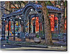 Pioneer Square - Seattle Acrylic Print by David Patterson