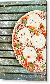 Pizza Acrylic Print by Tom Gowanlock
