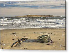 Popham Beach On The Maine Coast Acrylic Print