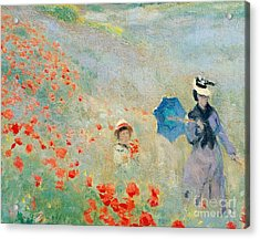 Poppies At Argenteuil Acrylic Print