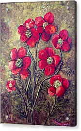 Acrylic Print featuring the painting Poppies by Renate Voigt