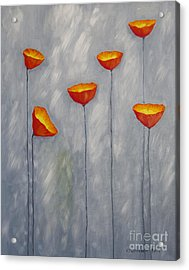 Poppies Acrylic Print by Veikko Suikkanen