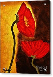 Poppy Ll Acrylic Print by Marsha Heiken