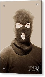 Portrait Of A Vintage Terrorist Acrylic Print