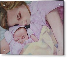 Portrait Of A Young Mother Acrylic Print