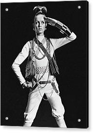 Portrait Of Twiggy Acrylic Print by Bert Stern