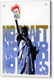 Poster Anti-war, C1975 Acrylic Print