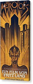 Poster From The Film Metropolis 1927 Acrylic Print