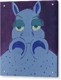 Acrylic Print featuring the painting Potamus by Yshua The Painter