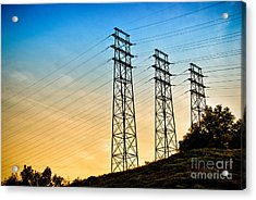 Power Lines Acrylic Print by Amy Cicconi