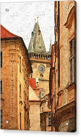 Prague - Old Town Acrylic Print by Ludek Sagi Lukac