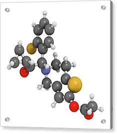 Prasugrel Platelet Inhibitor Drug Acrylic Print by Molekuul