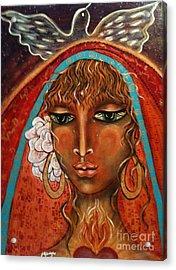 Pray For Peace Acrylic Print by Maya Telford